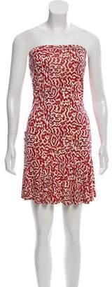 Diane von Furstenberg Sleeveless Print Mini Dress