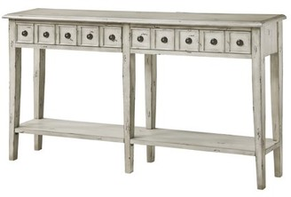 Crestview Collection Newcastle 2 Drawer Antique White Console