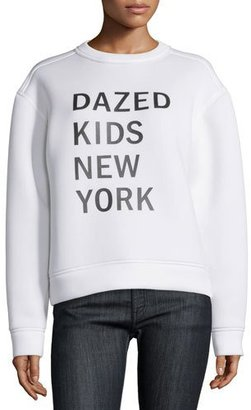 DKNY Dazed New York Kids Pullover Sweatshirt, Chalk $298 thestylecure.com