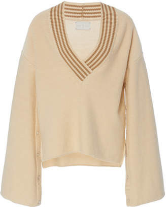 Arje The Formantera V Neck Wool Blend Sweater