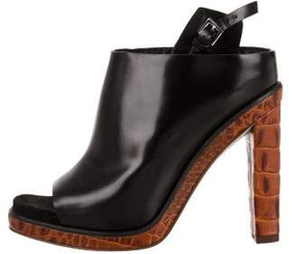 Alexander Wang Leather Peep-Toe Sandals