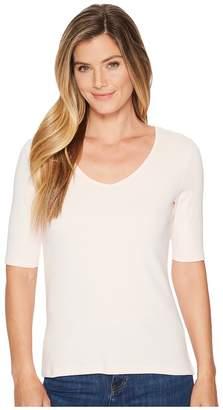 Lilla P Elbow Sleeve V-Neck Women's Clothing