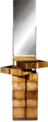 Gentner Design Brass & Walnut Vanity Semainier