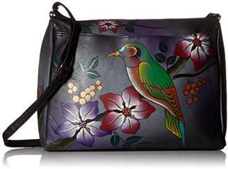 Anuschka Anna by Genuine Leather East West Crossbody Bag   Hand-Painted Original Artwork  