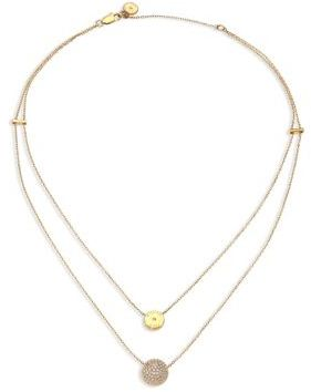 Michael Kors Brilliance Layered Disc Chain Necklace $115 thestylecure.com