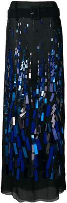 Prada embellished long skirt