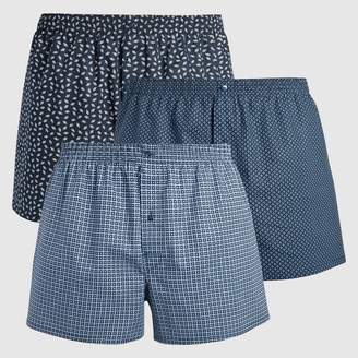 CASTALUNA MEN'S BIG & TALL Pack of 3 Printed Boxer Shorts