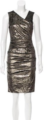 Nicole Miller Ruched Metallic Velvet Dress w/ Tags $85 thestylecure.com