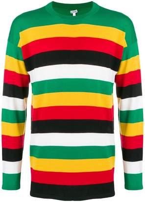 Loewe striped crew neck jumper