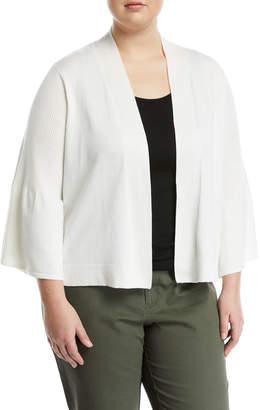 Neiman Marcus Plus Bell-Sleeve Shrug Cardigan, Plus Size