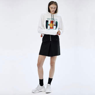 Sandro High-Waisted Skirt With Contrasting Zip