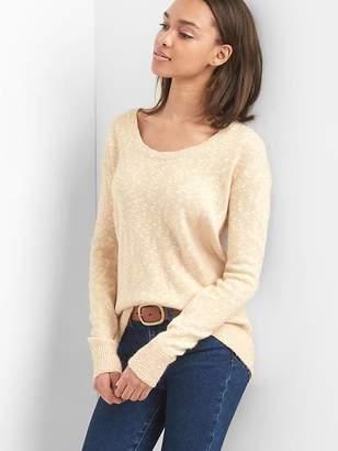 Tie-back scoopneck pullover