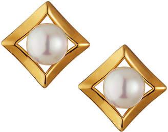 Majorica 8mm Framed Pearly Stud Earrings