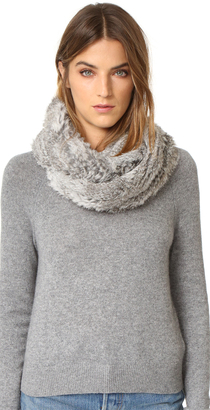 Jocelyn Fur Knitted Infinity Scarf $250 thestylecure.com
