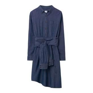 Indigo Twill Slub Shirt Dress
