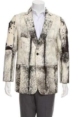 Gucci 1999 Leather-Lined Ponyhair Blazer w/ Tags