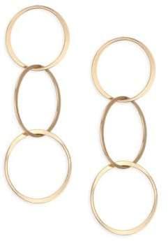 Ettika Triple Hoop Drop Earrings