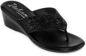 ITALIANA BY ITALIAN SHOEMAKERS Italiana By Italian Shoemakers Treena Womens Wedge Sandals