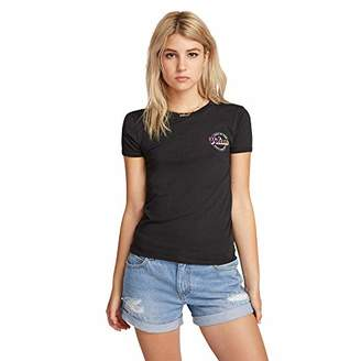 Volcom Women's Side Stage Ringer Tee