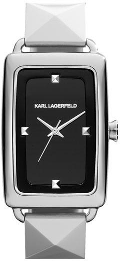 Karl Lagerfeld 'Kourbe' Rectangular Bracelet Watch, 28mm x 41mm