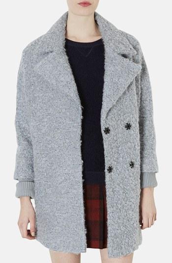 Topshop 'Amelie' Slouchy Boyfriend Coat