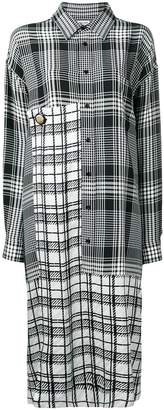 Balenciaga panel shirt dress