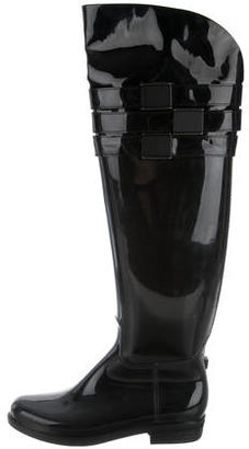Calvin Klein Over-The-Knee Rain Boots $95 thestylecure.com