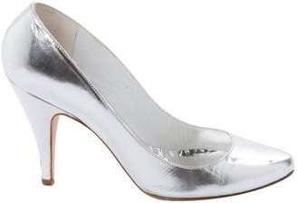Patrizia Pepe Silver Leather Heels