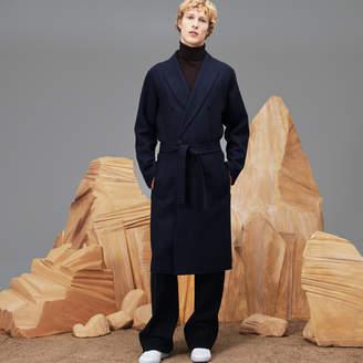 Lacoste Unisex Fashion Show Wraparound Belted Wool Coat