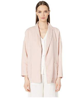 Eileen Fisher Organic Linen Shawl Collar Jacket
