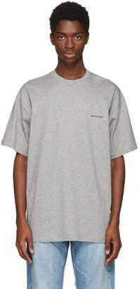 Balenciaga Grey Small Logo T-Shirt