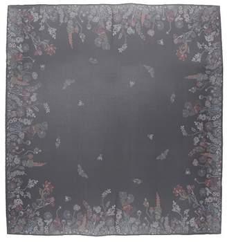 Alexander McQueen Floral-printed silk scarf