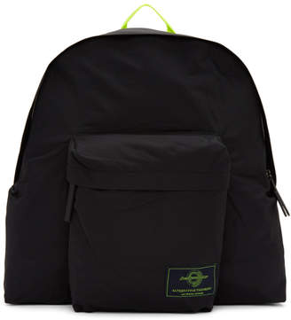 Juun.J Black Nylon Backpack