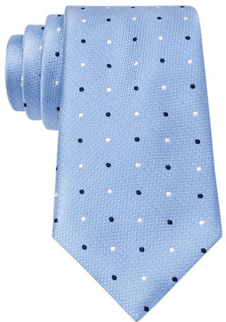 Black Brown 1826 Classic Fit Silk Woven Dot Tie