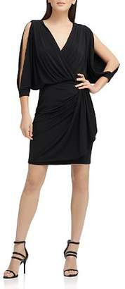 Donna Karan Split-Sleeve Jersey Dress