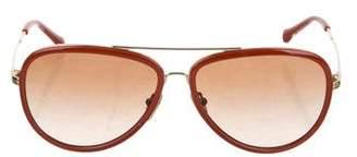 Tory Burch Aviator Tinted Sunglasses