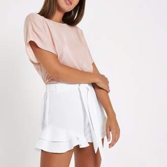 River Island Womens Light Pink short sleeve bar back top