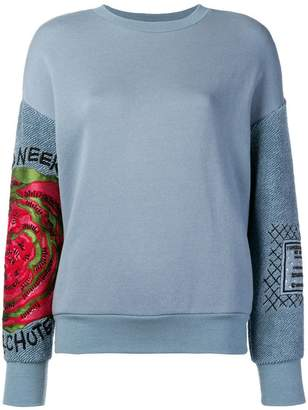 Mr & Mrs Italy embroidered detail sweatshirt