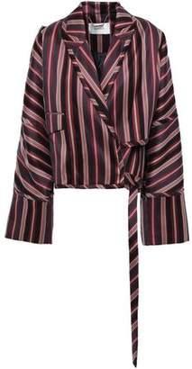 Zimmermann Folly Uniform Striped Cotton-blend Jacquard Wrap Jacket