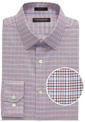 3021f7525 Banana Republic Grant Slim-Fit Non-Iron Check Dress Shirt