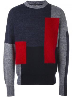 Oamc colour block jumper $495 thestylecure.com