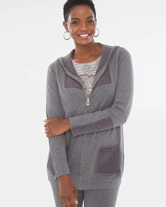 Zenergy Cotton Cashmere-Blend Chenille-Mix Jacket