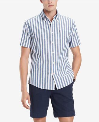 85f8e318f Tommy Hilfiger Men Big   Tall Nico Custom-Fit Vertical Stripe Shirt