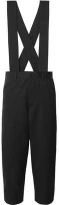 Comme des Garcons Cropped Wool-twill Overalls - Black