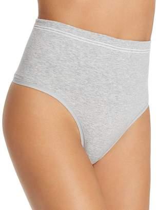 Yummie Seamless Cotton-Stretch High-Waist Thong