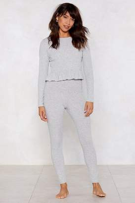 Nasty Gal Give It a Rest Top and Leggings Set