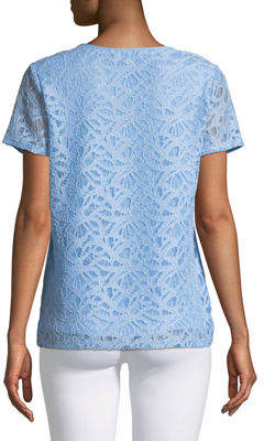 Iconic American Designer Lace Short-Sleeve Tee