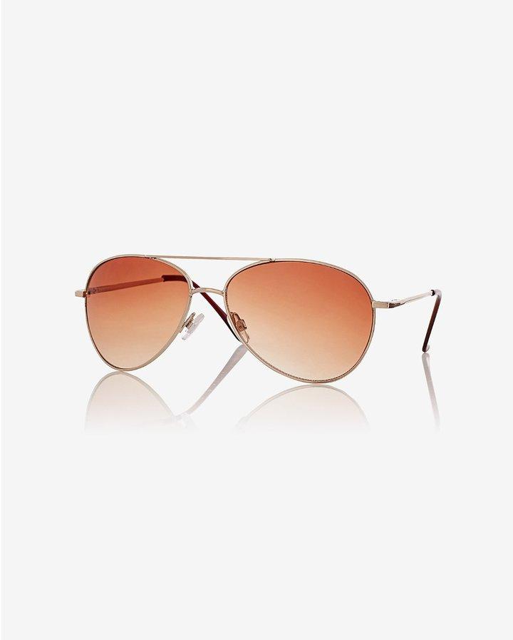 Express Aviator Sunglasses
