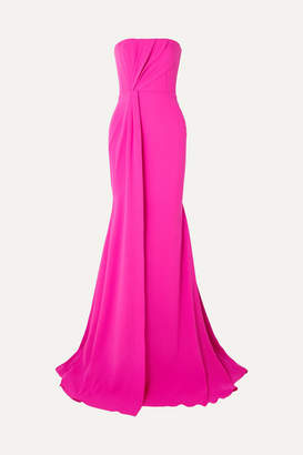 Alex Perry Garnet Strapless Draped Crepe And Satin Gown - Pink