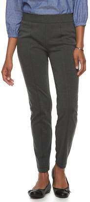 Croft & Barrow Petite Easy Care Straight-Leg Ponte Pants